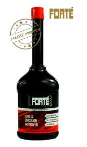 Forté Fuel & Emission Improver czyszczenie katalizatora, sondy lambda, filtra GPF ipierścieni uszczelniających wsilnikach benzynowych